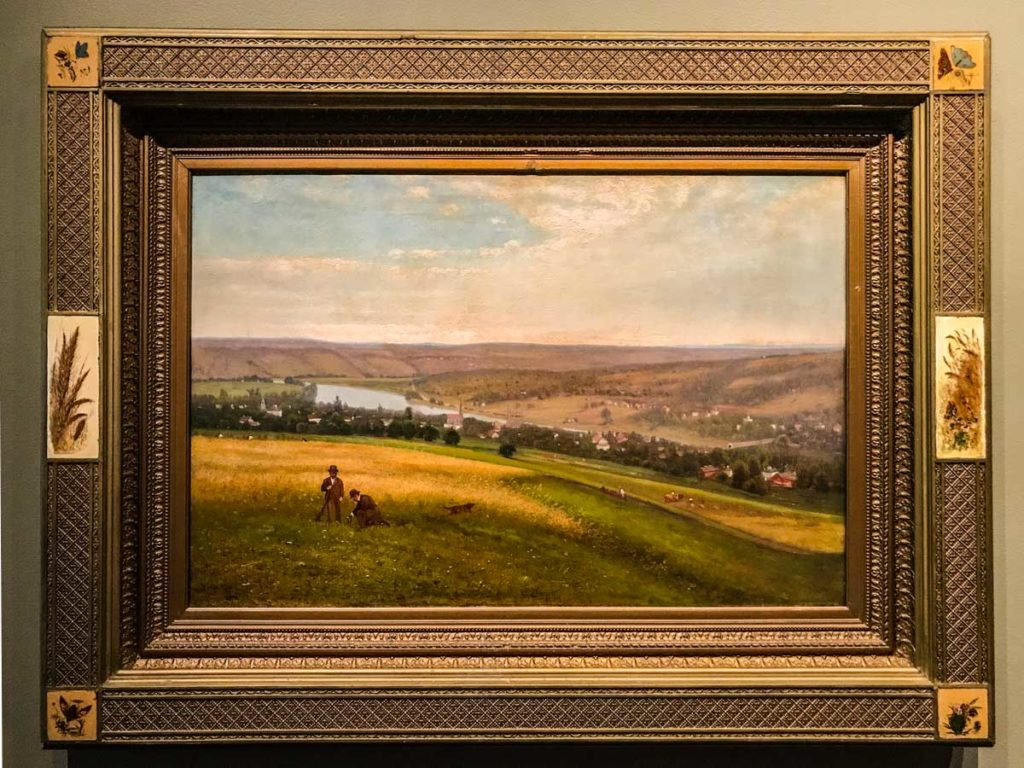 Mohawk Valley at Canajoharie by Edward Gay 1876 Oil on Canvas Arkell Museum Canajoharie NY | Mohawk Valley Today