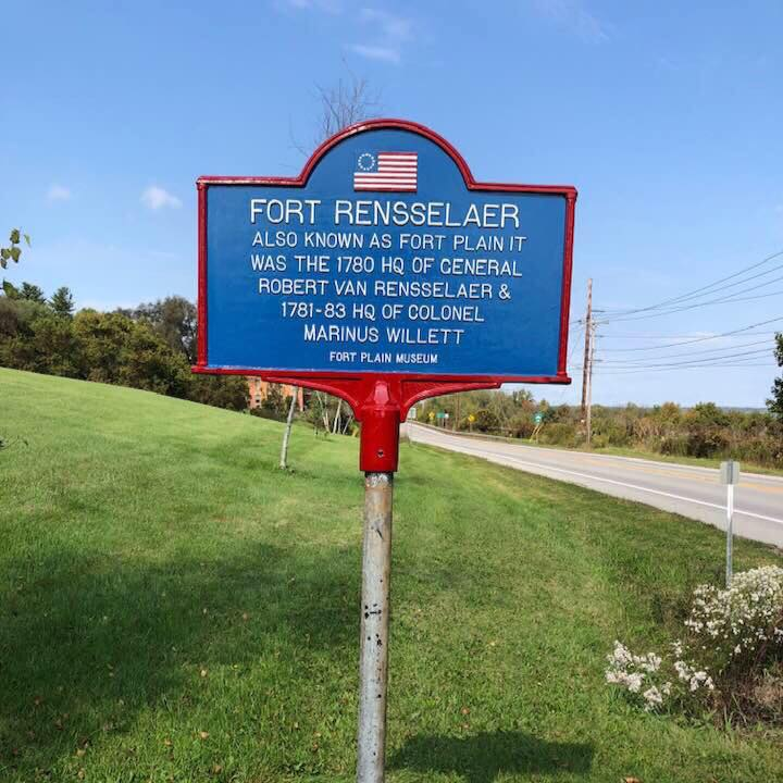 Fort Rensselaer Historical Sign | Fort Plain NY | Mohawk Valley Today