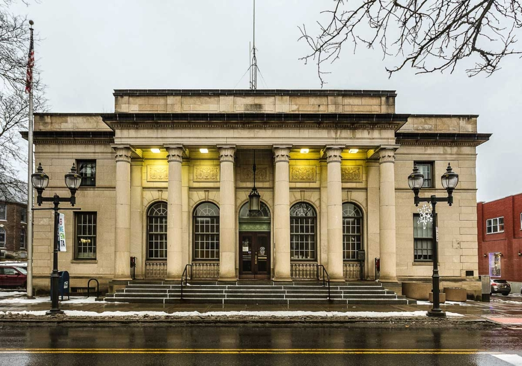 Oneonta, NY, City Hall former Post Office by Kenneth C. Zirkel